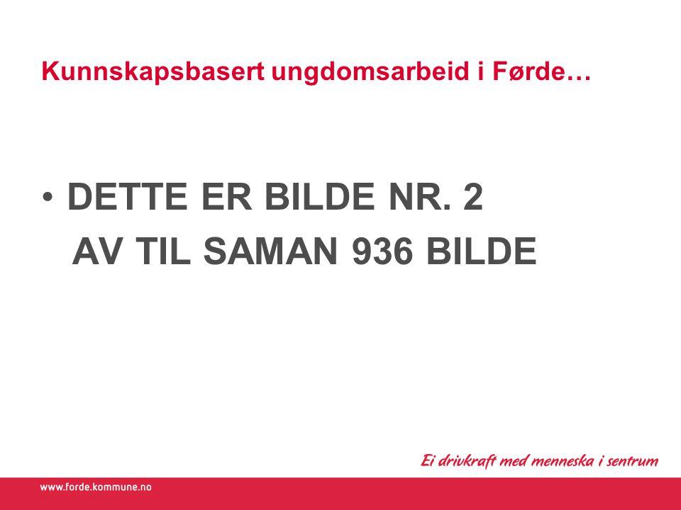 Kunnskapsbasert ungdomsarbeid i Førde… DETTE ER BILDE NR. 2 AV TIL SAMAN 936 BILDE