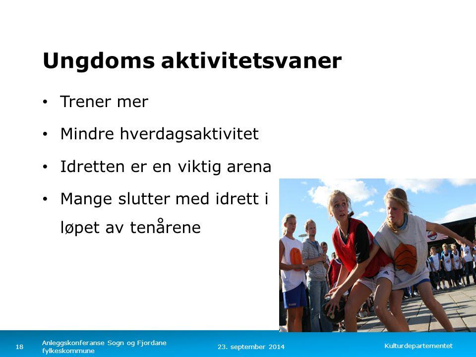 Kulturdepartementet Norsk mal: To innholdsdeler - Sammenlikning Tips farger: KUDs fargepalett er lagt inn i malen og vil brukes automatisk i diagramme