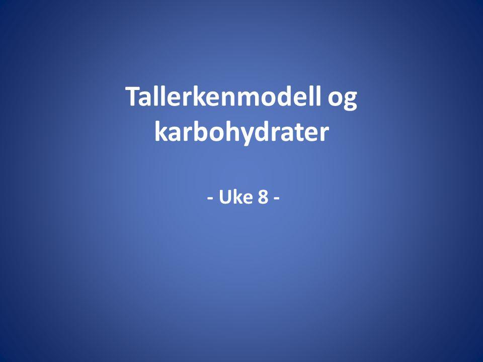 Tallerkenmodell og karbohydrater - Uke 8 -
