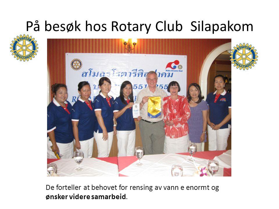 I 2011 fullføres nye vannprosjekt Bjørn Lunde fikk budskapet fra klubben i Udonthani.