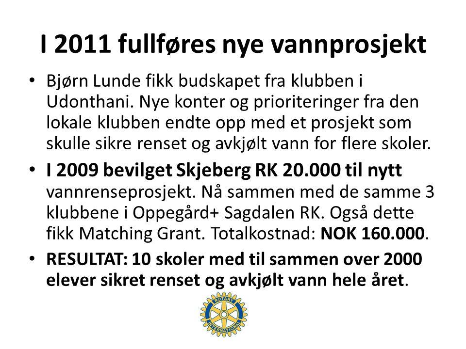 Prosjektbudsjett Filtreringssystem Thb 420.000 Vannkjølere 330.000 Vanntanker 1.100 liter 87.000 Montering 23.000 Totalt Thb 860.000 USD 26.000