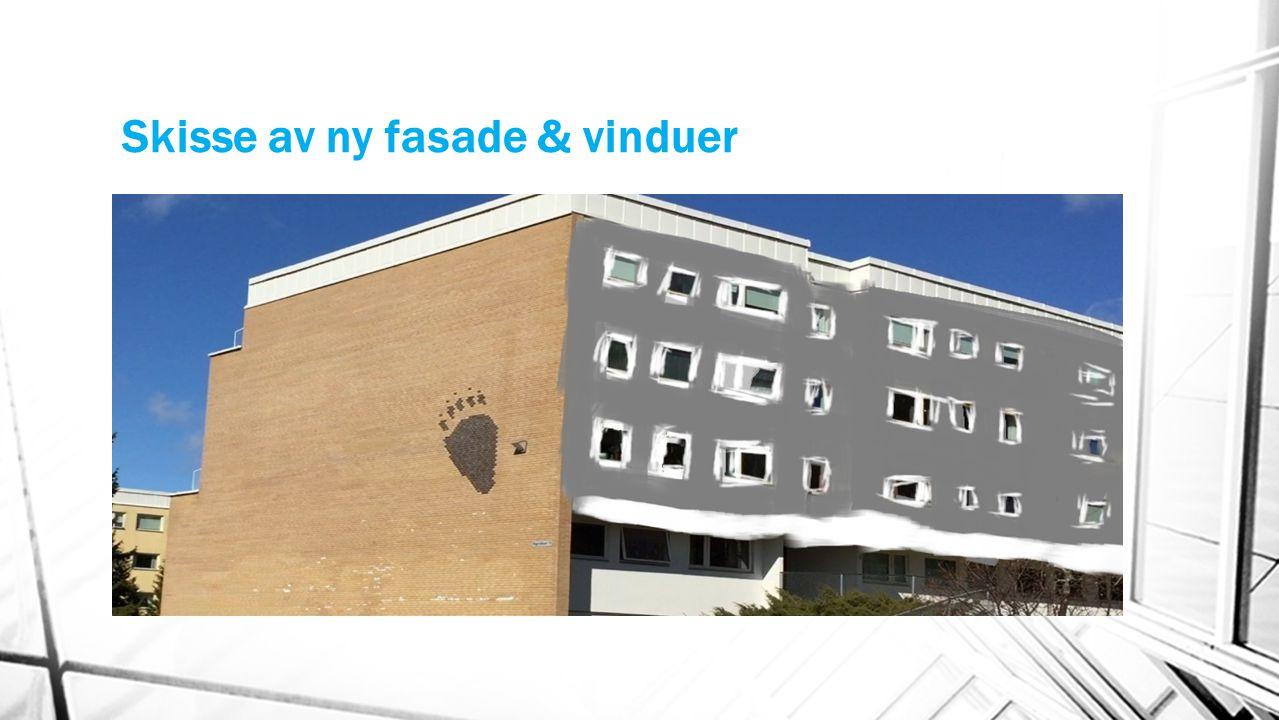 Skisse av ny fasade & vinduer