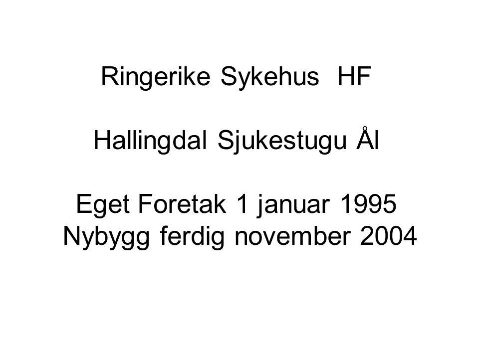 Ringerike Sykehus HF Hallingdal Sjukestugu Ål Eget Foretak 1 januar 1995 Nybygg ferdig november 2004