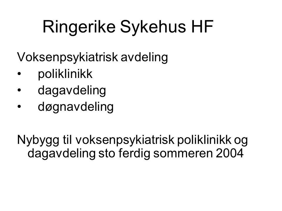 Ringerike Sykehus HF Voksenpsykiatrisk avdeling poliklinikk dagavdeling døgnavdeling Nybygg til voksenpsykiatrisk poliklinikk og dagavdeling sto ferdi