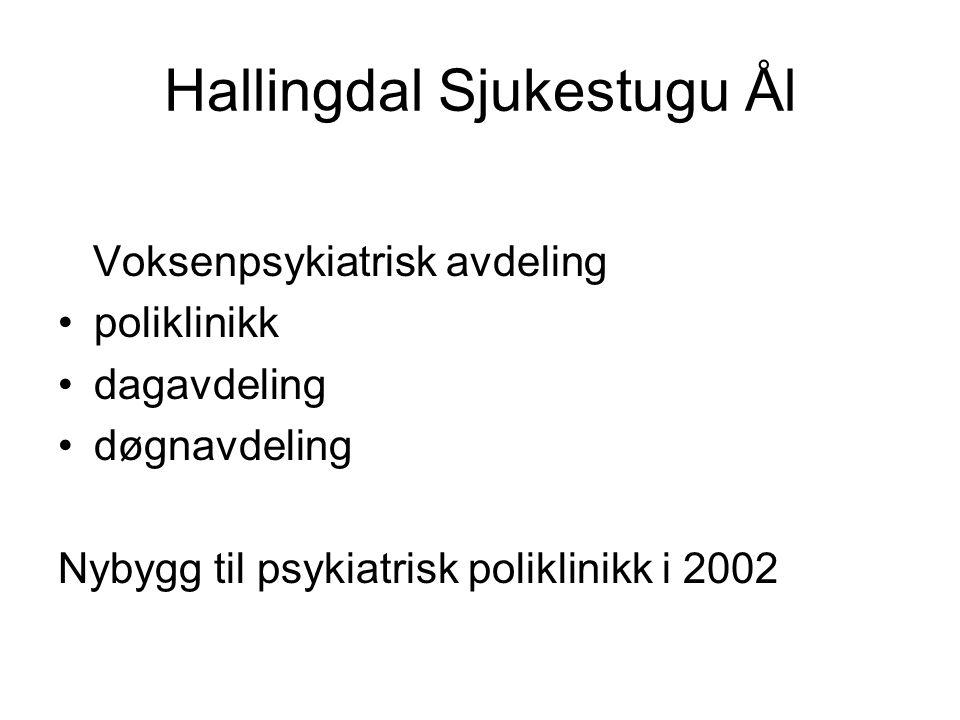 Hallingdal Sjukestugu Ål Voksenpsykiatrisk avdeling poliklinikk dagavdeling døgnavdeling Nybygg til psykiatrisk poliklinikk i 2002