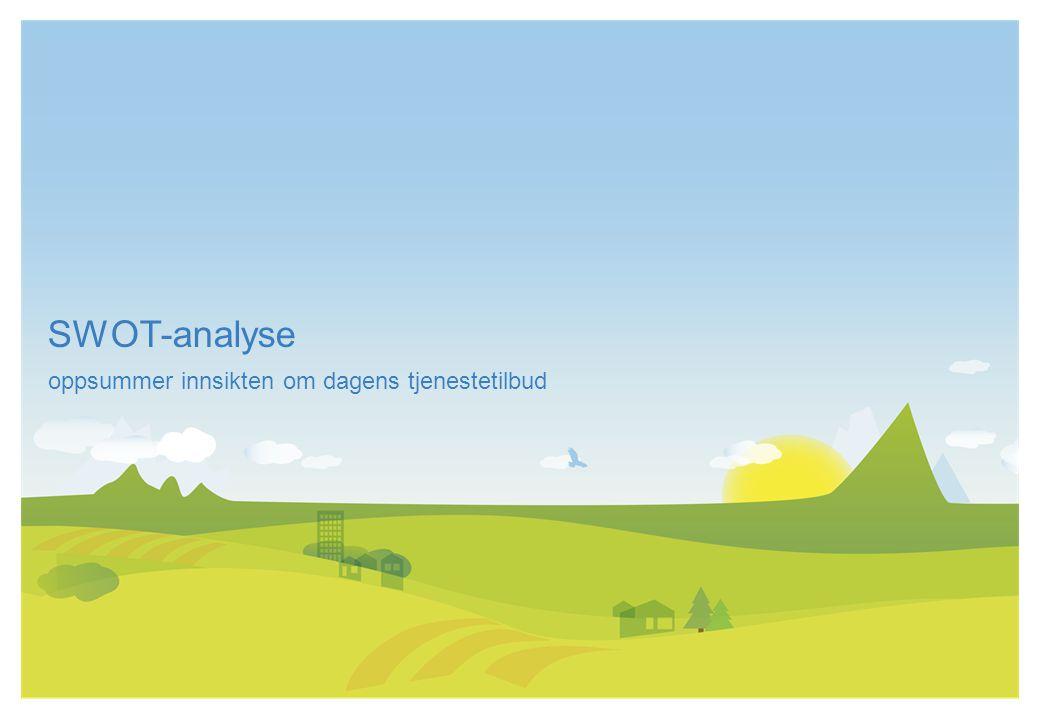 SWOT-analyse oppsummer innsikten om dagens tjenestetilbud