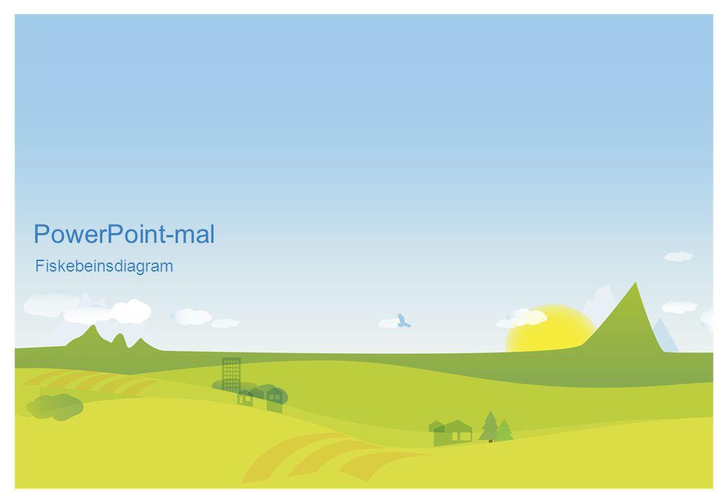 PowerPoint-mal Fiskebeinsdiagram