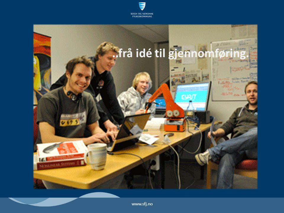 www.sfj.no..frå idé til gjennomføring.
