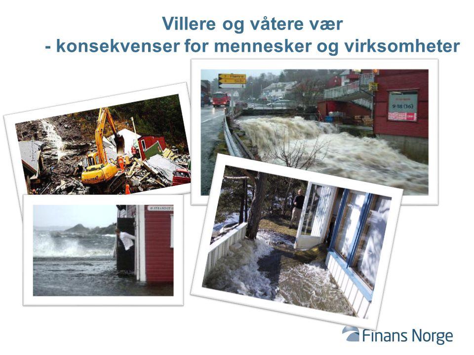 Villere og våtere vær - konsekvenser for mennesker og virksomheter
