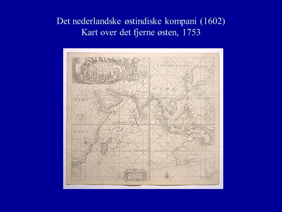 Det nederlandske østindiske kompani (1602) Kart over det fjerne østen, 1753