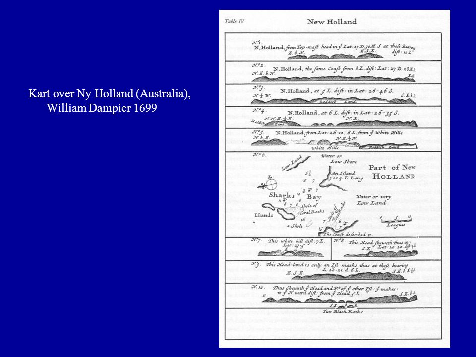 Kart over Ny Holland (Australia), William Dampier 1699