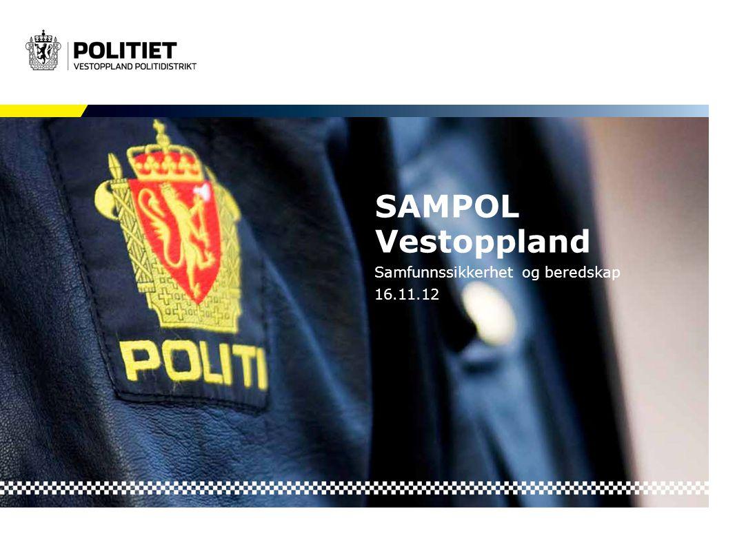 SAMPOL Vestoppland Samfunnssikkerhet og beredskap 16.11.12