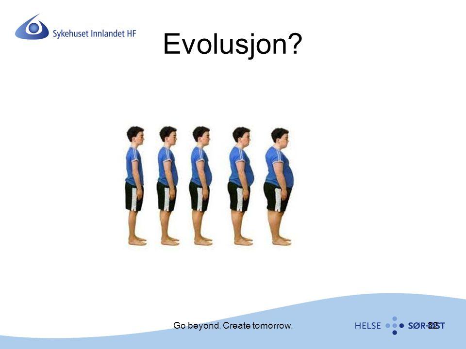 Evolusjon? 32Go beyond. Create tomorrow.