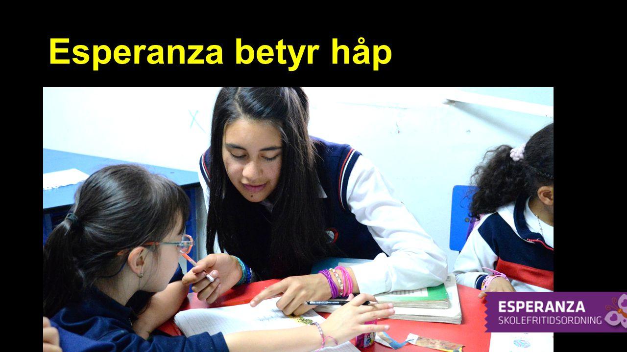 Skolefritidsordning i Bogotá Ligger i bydelen San Francisco Ligger i bydelen San Francisco Erfarne lærere Erfarne lærere Om lag 85-90 barn nå Om lag 85-90 barn nå Hjelper også familiene Hjelper også familiene