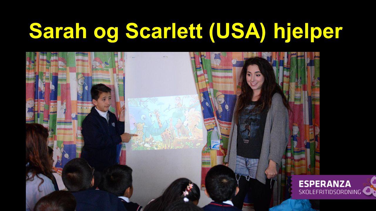 Sarah og Scarlett (USA) hjelper