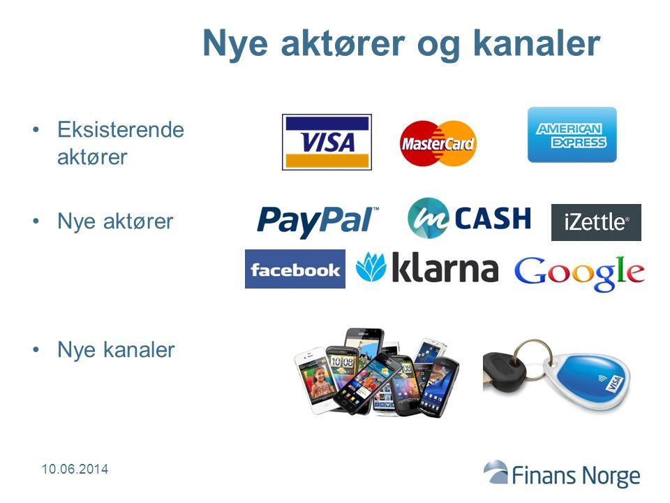Nye aktører og kanaler Eksisterende aktører Nye aktører Nye kanaler 10.06.2014