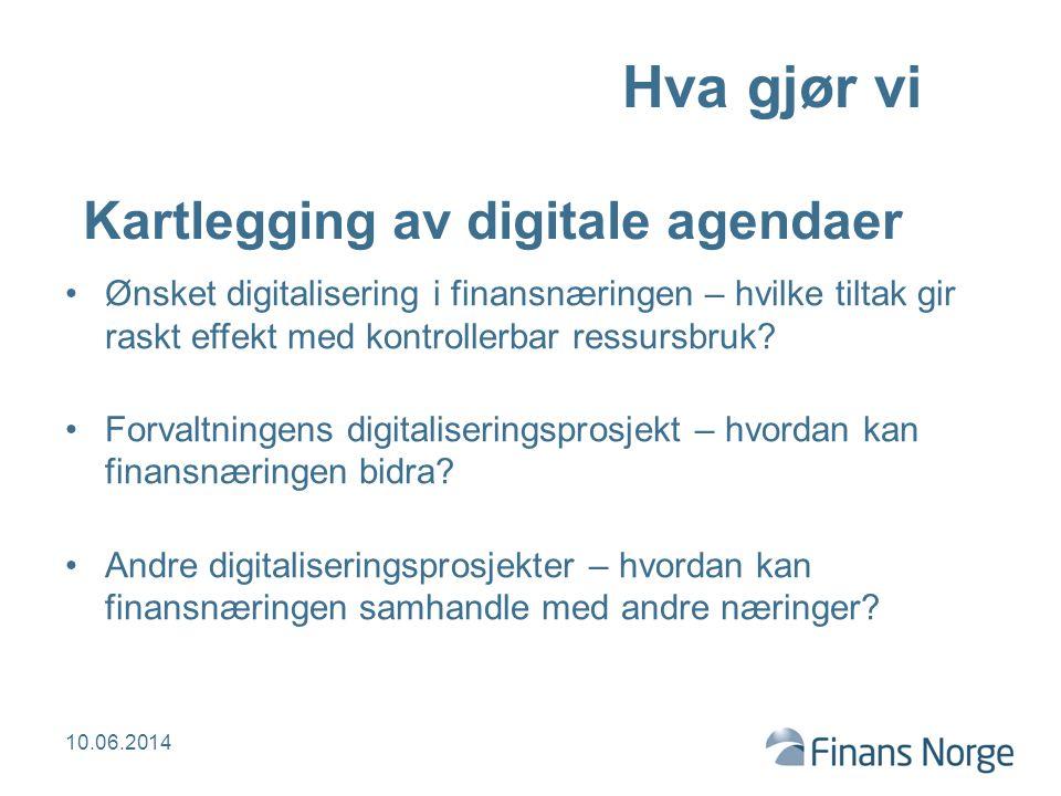 BankID vil spille en nøkkelrolle BankID har stor utbredelse og bruk BankID i ID-porten gir forvaltningen tilgang til eID på høyeste nivå BankID er en nøkkel til digitalisering av øvrige offentlige og private virksomheter i Norge BankID Norge AS skal, på forretningsmessig grunnlag, være en pådriver for digitalisering i samfunnet 10.06.2014