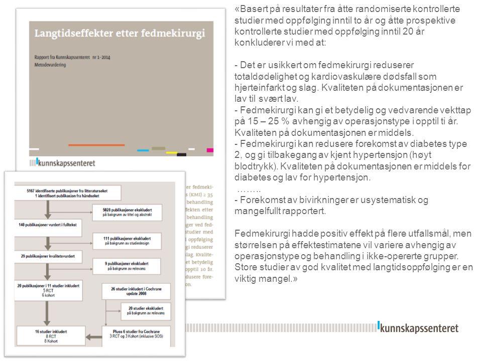 Kunnskapsoppsummeringer og systematisk introduksjon av nye metoder