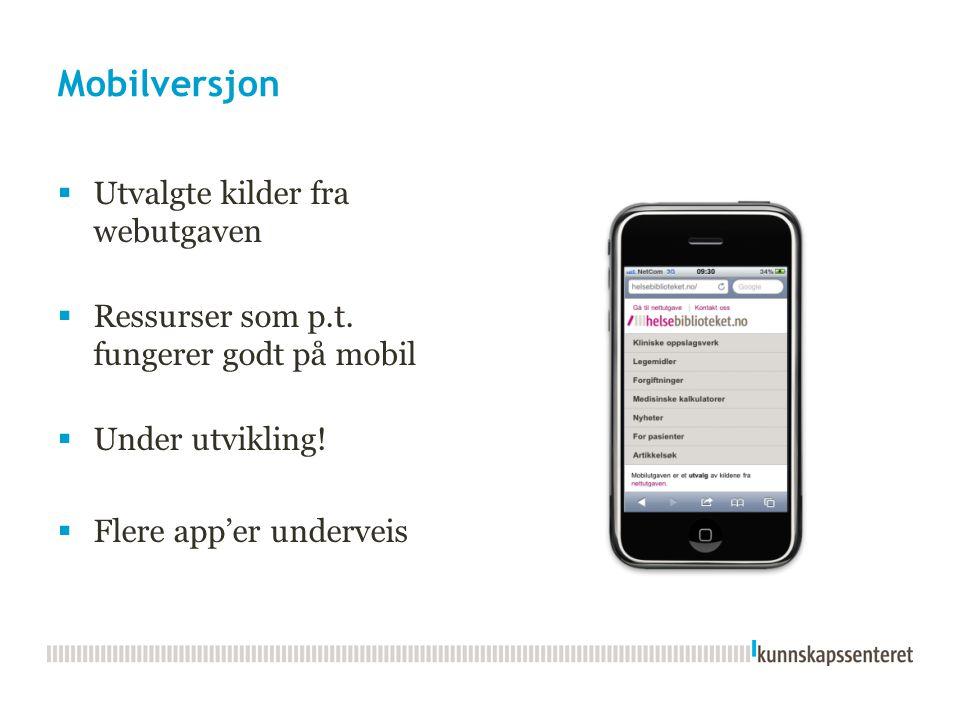 Legevakthåndboken digitalt tilgjengelig online og online - også som app