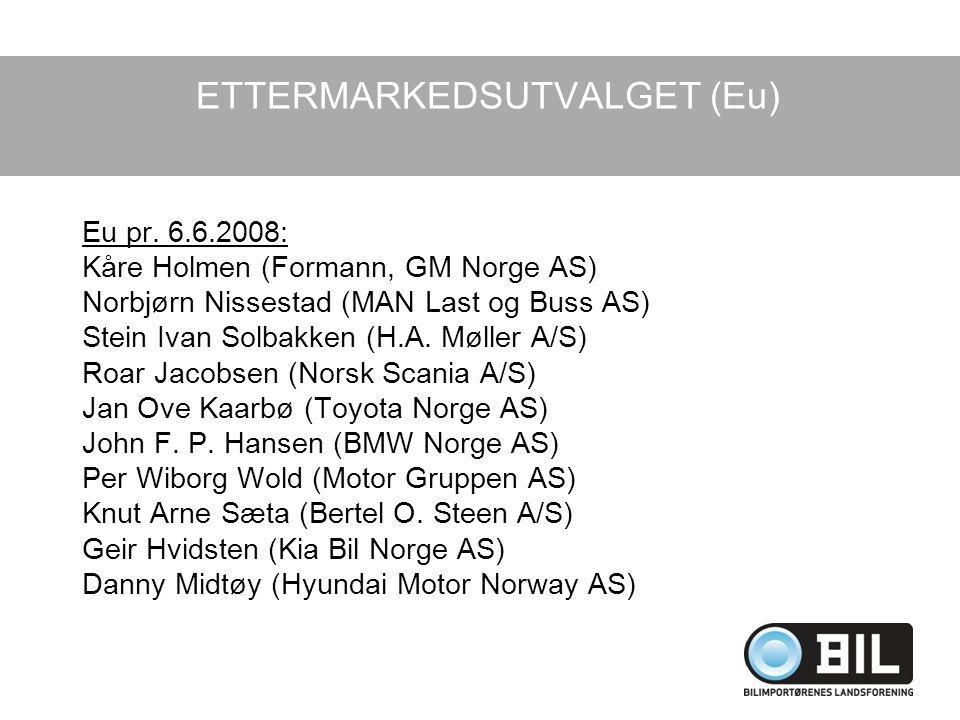 Eu pr. 6.6.2008: Kåre Holmen (Formann, GM Norge AS) Norbjørn Nissestad (MAN Last og Buss AS) Stein Ivan Solbakken (H.A. Møller A/S) Roar Jacobsen (Nor