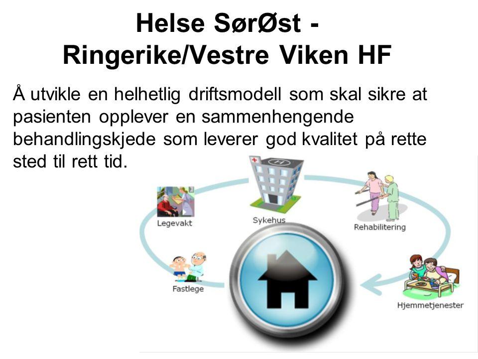 Britt V. Danielsen, Omstillingsenheten Helse SørØst - Ringerike/Vestre Viken HF Å utvikle en helhetlig driftsmodell som skal sikre at pasienten opplev