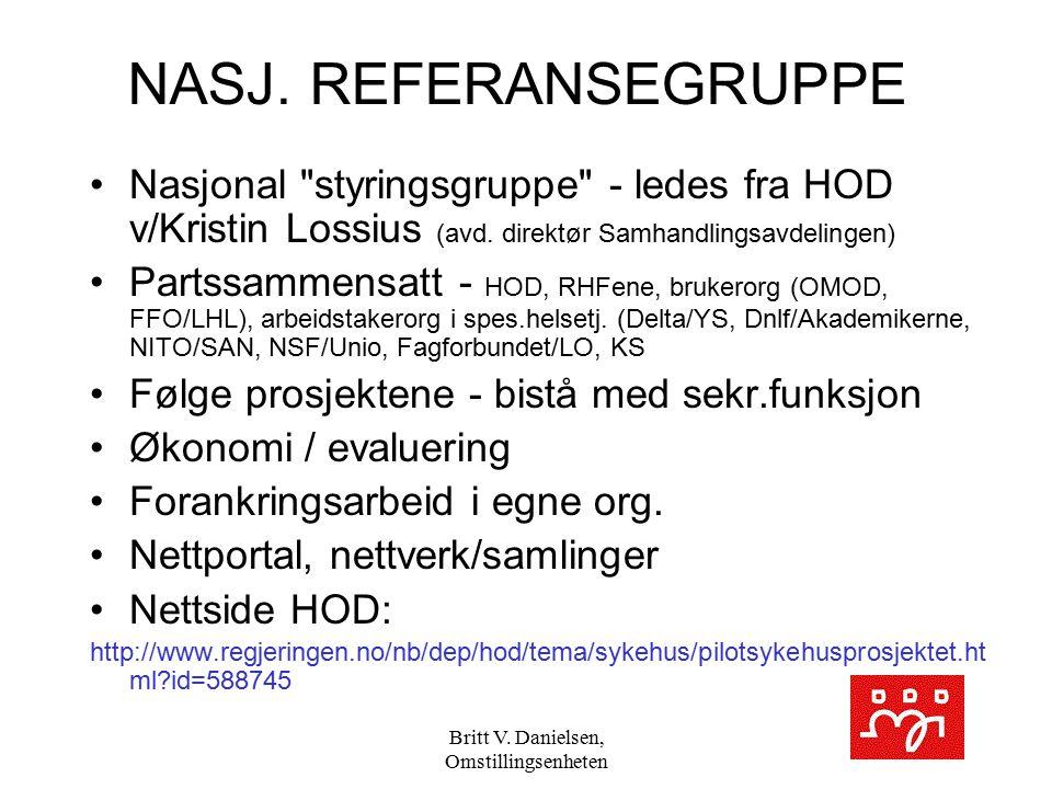 Britt V. Danielsen, Omstillingsenheten NASJ. REFERANSEGRUPPE Nasjonal