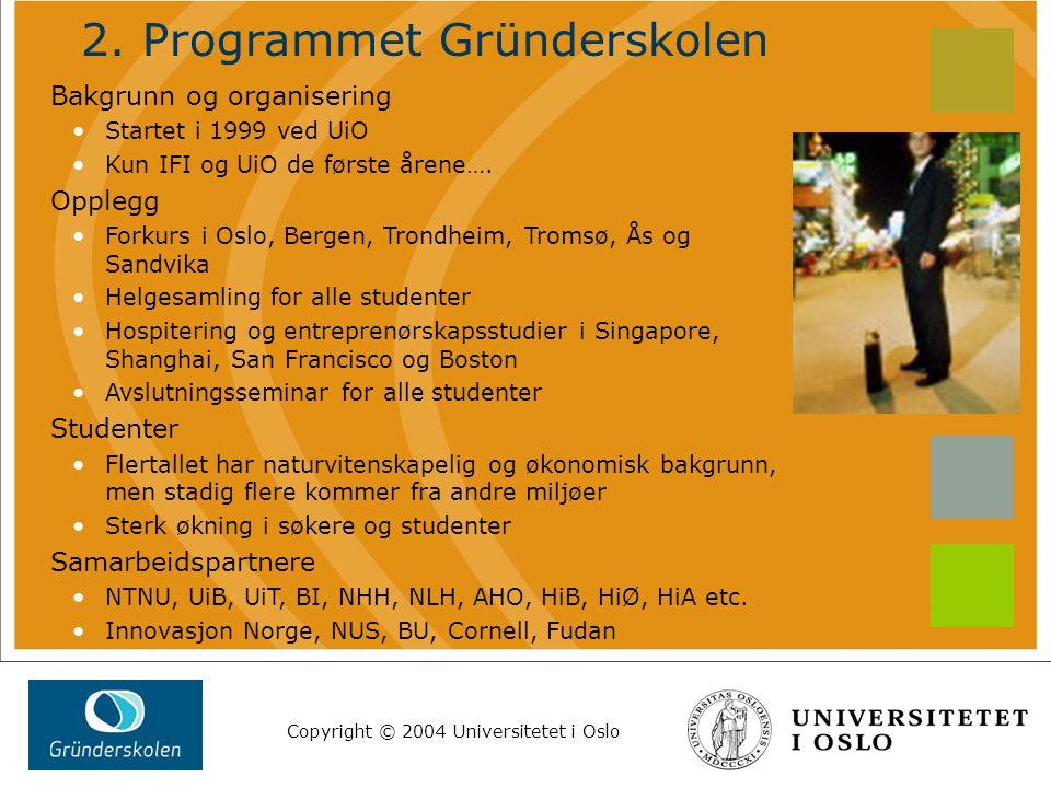 Copyright © 2004 Universitetet i Oslo 3.