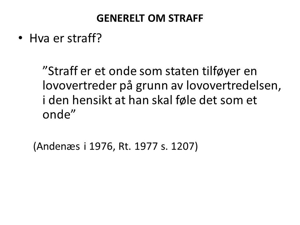 NORSK STRAFFERETT OG FOLKERETTEN Strl.