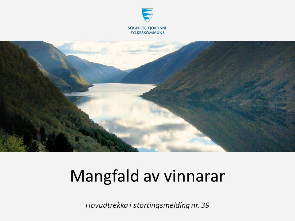 Mangfald av vinnarar Hovudtrekka i stortingsmelding nr. 39