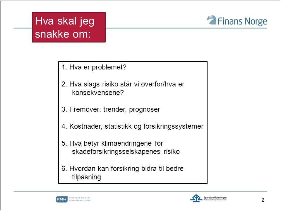 23 Vannskader vs naturskader Kilde: Finans Norge