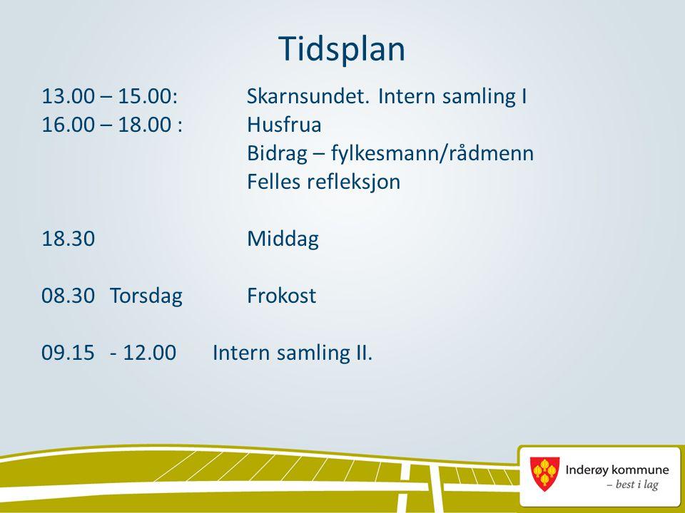 Tidsplan 13.00 – 15.00:Skarnsundet.