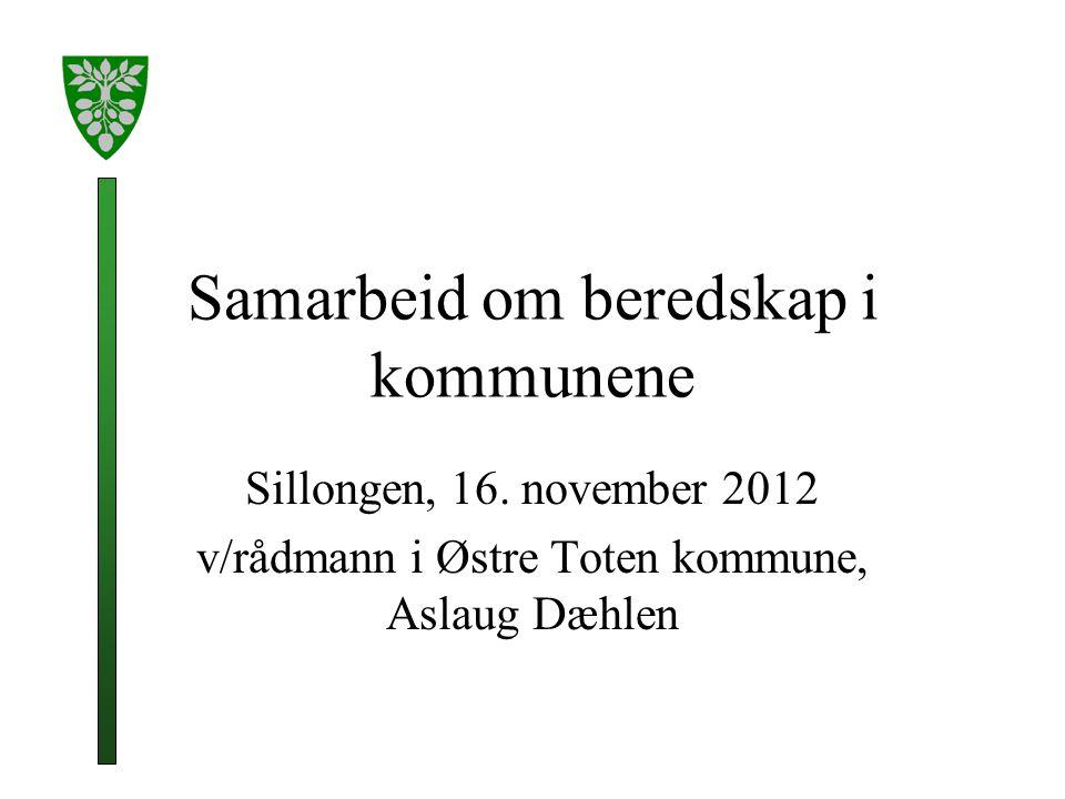 Samarbeid om beredskap i kommunene Sillongen, 16.