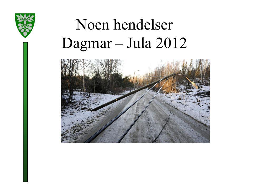 Noen hendelser Dagmar – Jula 2012
