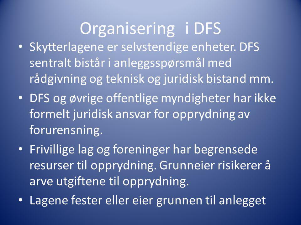 Organisering i DFS Skytterlagene er selvstendige enheter.