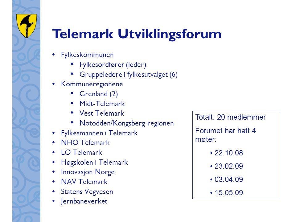  Fylkeskommunen Fylkesordfører (leder) Gruppeledere i fylkesutvalget (6)  Kommuneregionene Grenland (2) Midt-Telemark Vest Telemark Notodden/Kongsbe