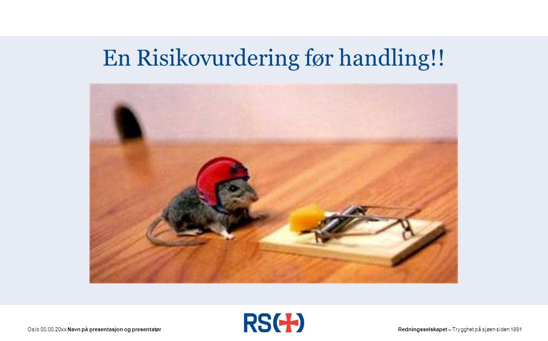 Risikovurdering – oppsummert: