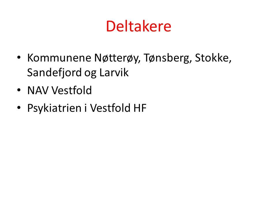 Deltakere Kommunene Nøtterøy, Tønsberg, Stokke, Sandefjord og Larvik NAV Vestfold Psykiatrien i Vestfold HF