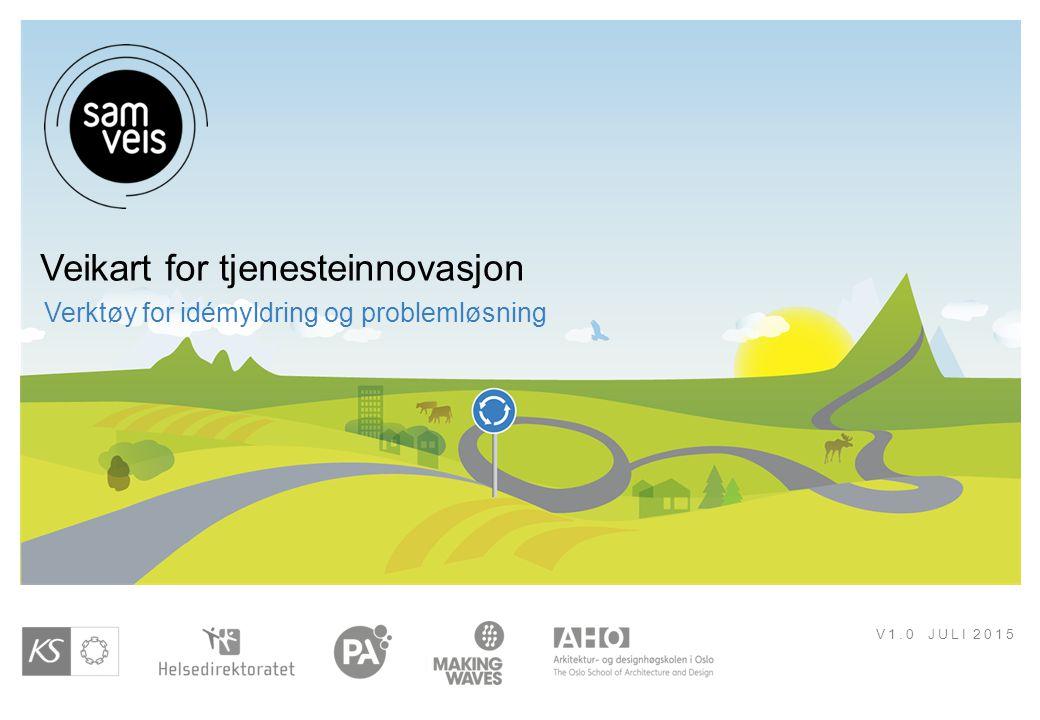 V1.0 JULI 2015 Veikart for tjenesteinnovasjon Verktøy for idémyldring og problemløsning