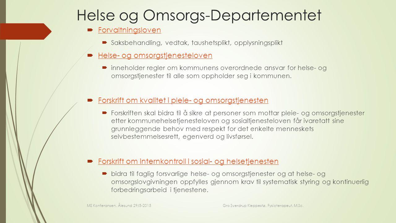 TAKK FOR MEG! MS Konferansen, Ålesund 29/5-2015 Gro Sverdrup Kleppestø, Fysioterapeut, M.Sc.