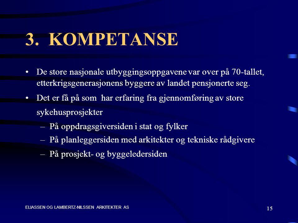 ELIASSEN OG LAMBERTZ-NILSSEN ARKITEKTER AS 15 3.