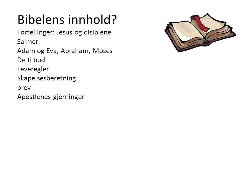 Bibelens sjanger? Brev Poesi Visdomsord Historier Myter Dikt