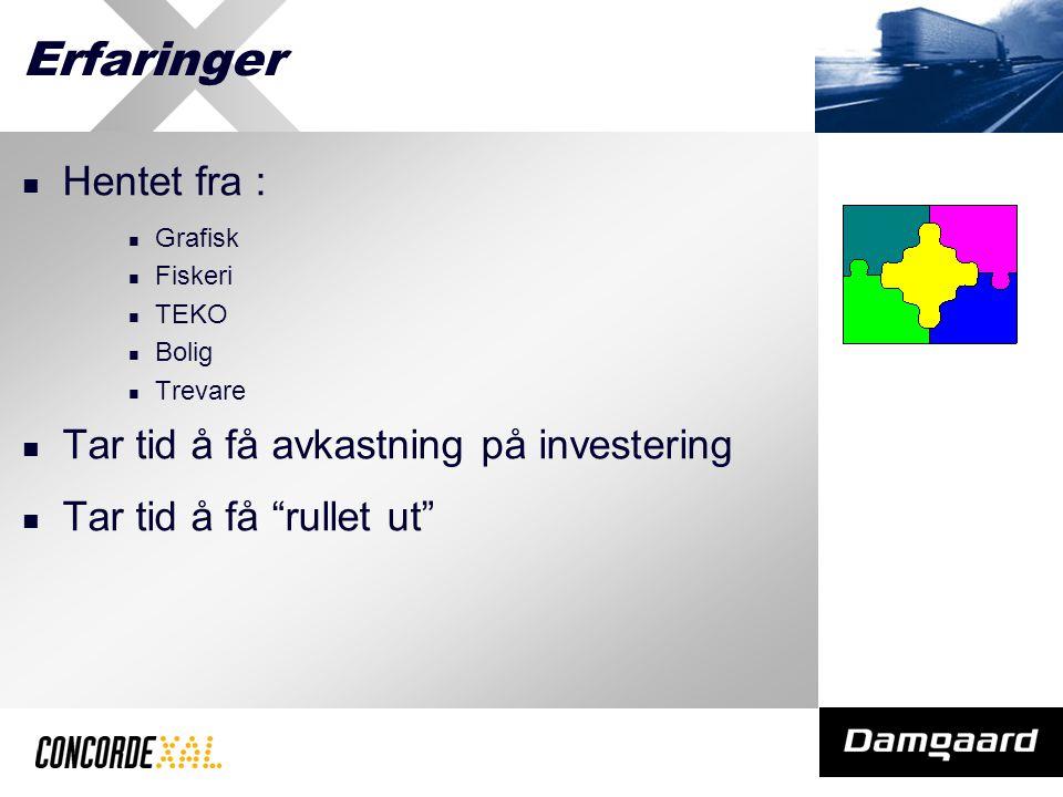 Erfaringer Hentet fra : Grafisk Fiskeri TEKO Bolig Trevare Tar tid å få avkastning på investering Tar tid å få rullet ut