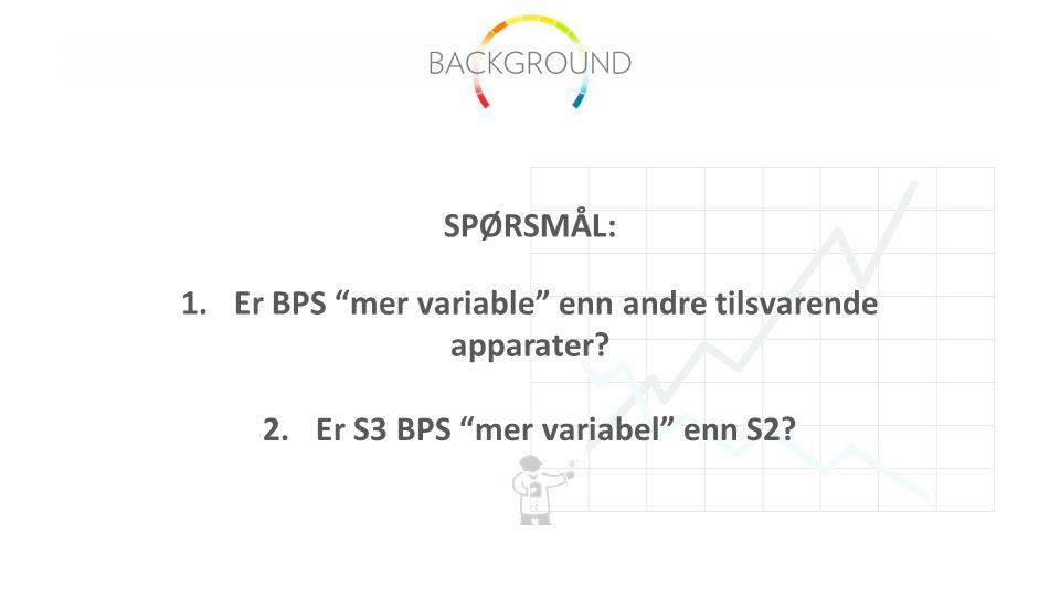 1.Er BPS mer variable enn andre tilsvarende apparater.