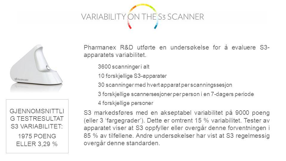 Pharmanex R&D utførte en undersøkelse for å evaluere S3- apparatets variabilitet.