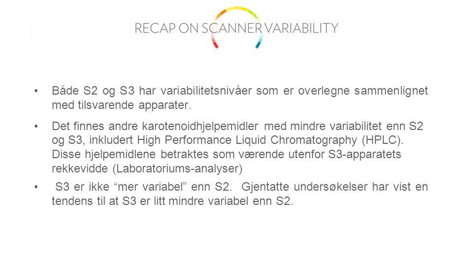 Både S2 og S3 har variabilitetsnivåer som er overlegne sammenlignet med tilsvarende apparater.