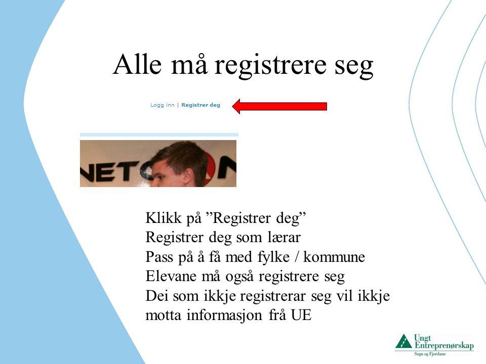 Registrering av ungdomsbedrift i det nye systemet Logg inn