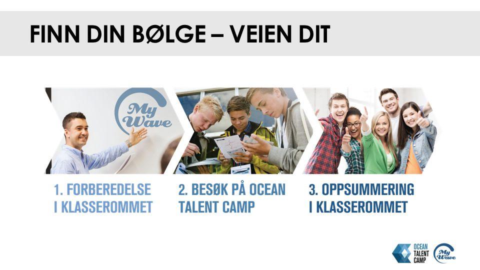 Lik og del opplevelser før, under og etter Ocean Talent Camp på Tag med: #oceantalentcamp #oceantalents #oceanindustries #firmanavn #skolenavn DU FINNER OSS OGSÅ HER Egne lærersider og elevsider på www.oceantalentcamp.no www.oceantalentcamp.no