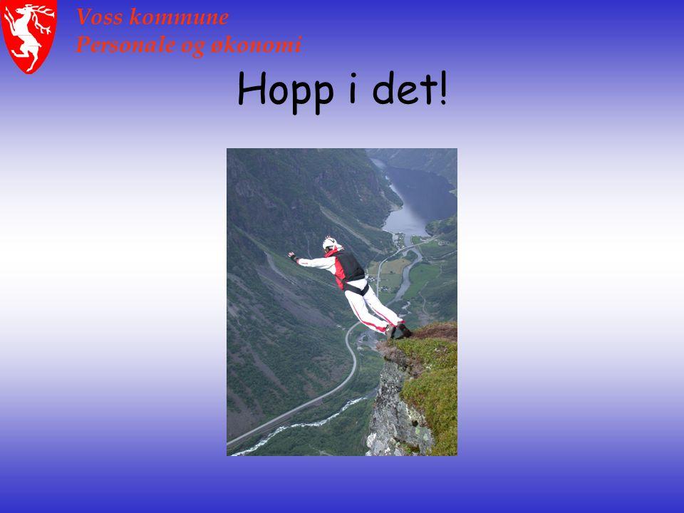 Voss kommune Personale og økonomi Hopp i det!