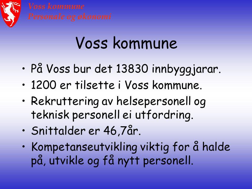 Voss kommune Personale og økonomi Rosing kompetansepris Voss kommune finalist til Rosing kompetansepris.