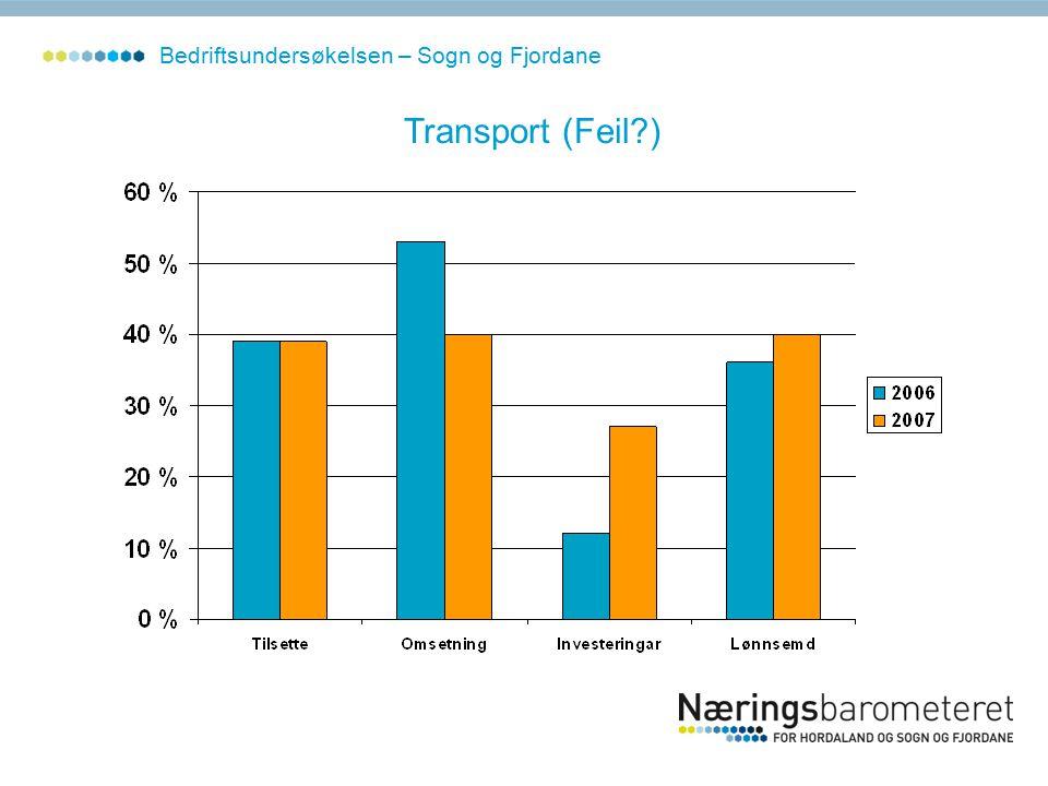 Transport (Feil ) Bedriftsundersøkelsen – Sogn og Fjordane